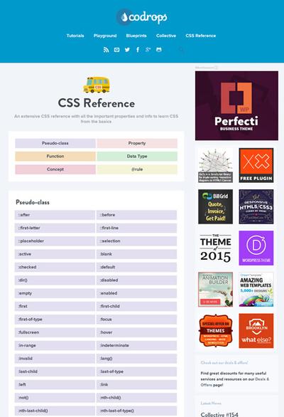 図6 CSSの辞書的な「CSS Reference」