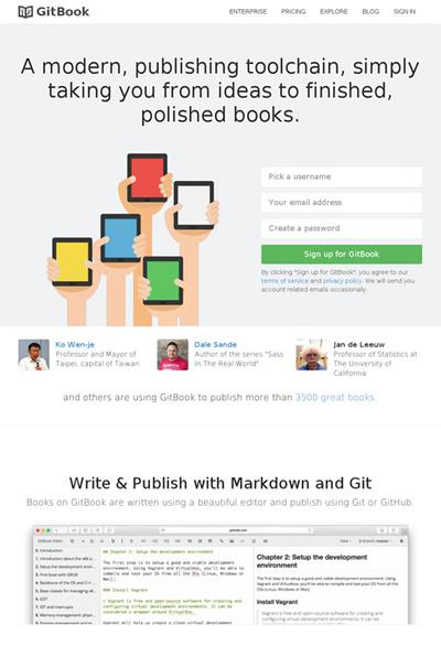 図6 マークダウン形式で電子書籍を作れるサービス