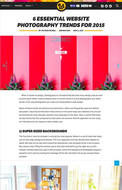 図1 Webサイトに使われる写真のトレンド