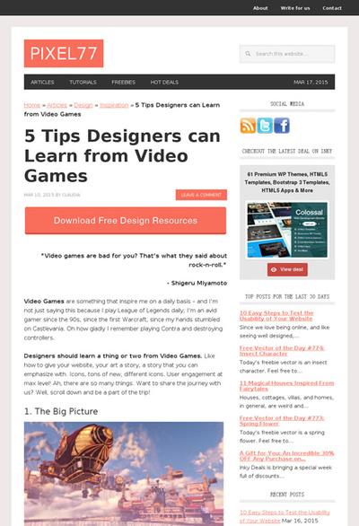 図1 デザイナーがゲームから学べる5つのテクニック