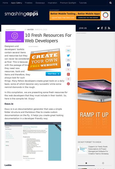 図3 Web開発者のための便利なツール類いろいろ
