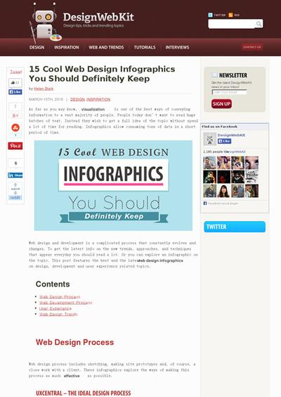 図4 Webデザインに関するインフォグラフィックス