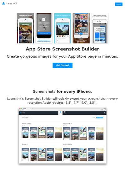 図6 iPhoneのアプリ紹介画像を作るビルダー