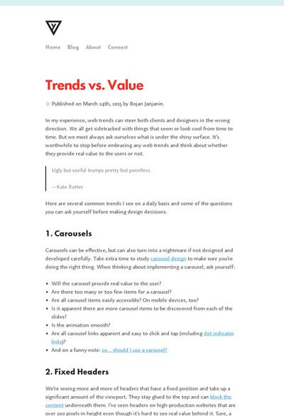 図1 Webデザインのトレンドの有効性を考えるヒント
