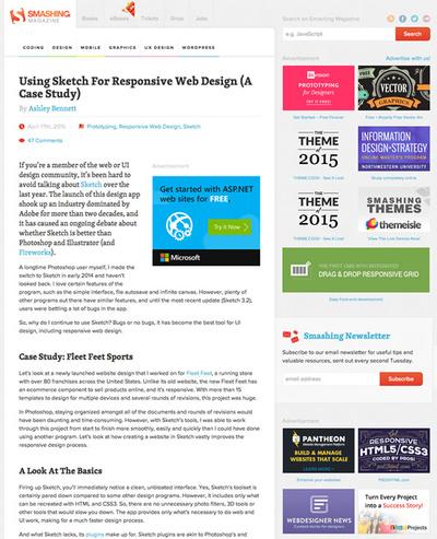 図4 Sketchを使ったレスポンシブWebデザイン制作のケーススタディ