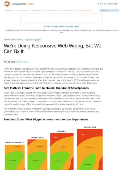 図2 レスポンシブデザインの問題点と解決策