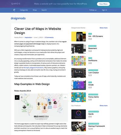 図4 地図を使ったWebデザインのギャラリー