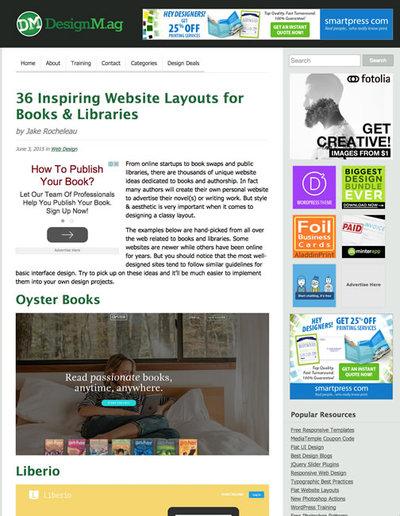 図4 本に関するWebデザインのギャラリー