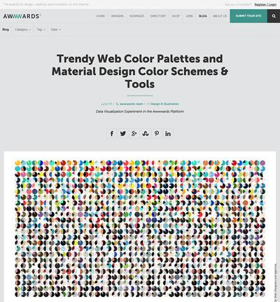 図2 膨大なサイトから導いたカラーパレットのトレンド