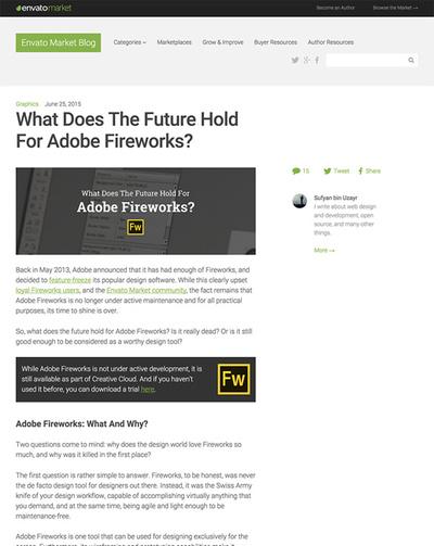 図4 Adobe Fireworksの将来について