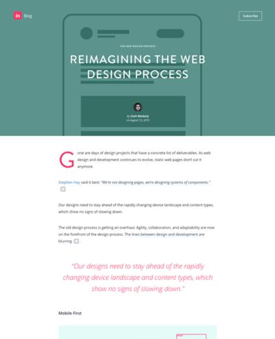 図1 Webデザインの新しいプロセスについて