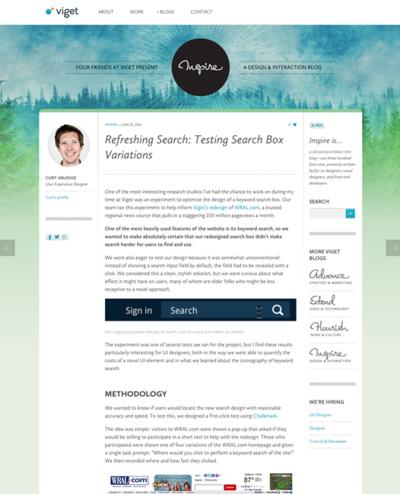 図3 検索窓のデザインのユーザーテスト