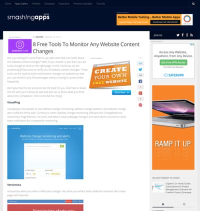 図6 Webサイトの更新をモニターするWebサービス