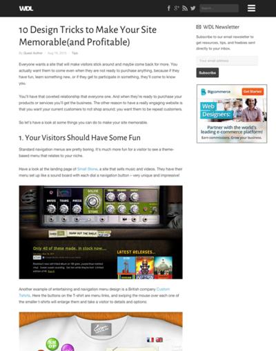 図1 記憶に残るサイトをデザインする秘訣