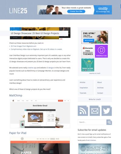 図5 優れたユーザーインターフェイスデザインのショーケース
