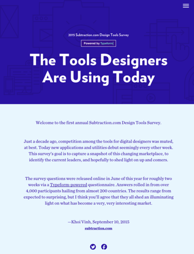 図1 デザイナーが今使っているツールのアンケート結果