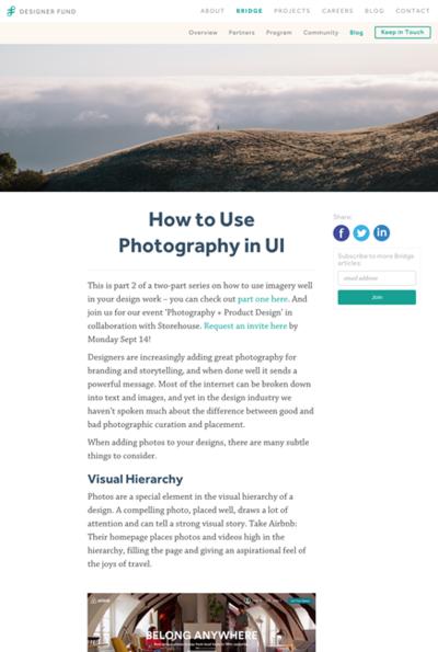 図3 ユーザーインターフェイスで写真を使う場合のヒント