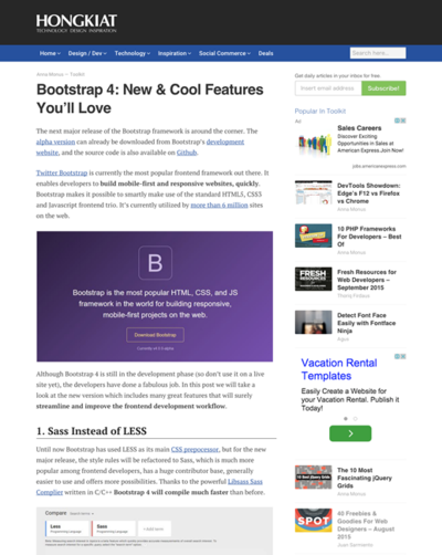 図3 Bootstrap 4の新機能