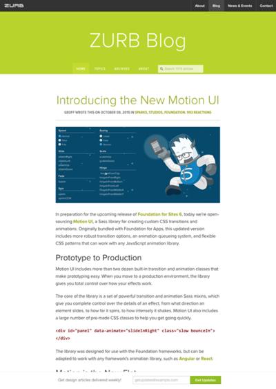 図4 アニメーションのためのライブラリMotion UIの紹介