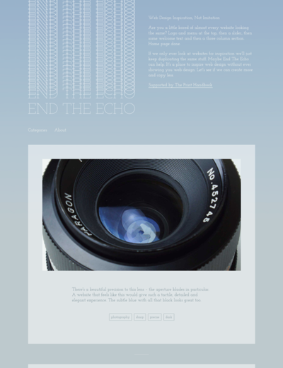 図4 Webデザインのインスピレーションになる写真ギャラリー