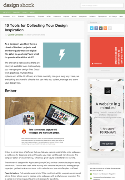 図6 Webページをコレクションするツール10選