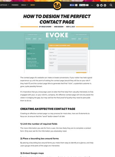 図1 完璧な問い合わせページをデザインする方法
