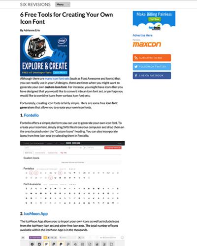 図6 アイコンフォントを自作できるWebサービスを6つ紹介
