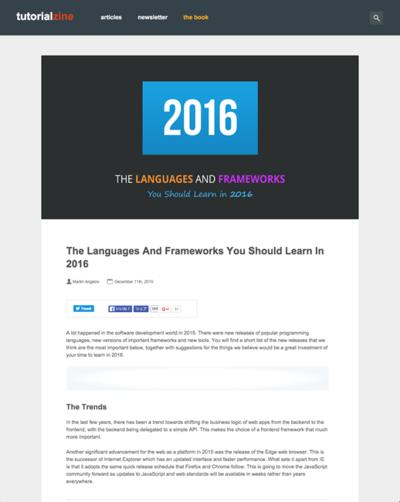 図3 2016年に学ぶべき言語とフレームワークのまとめ