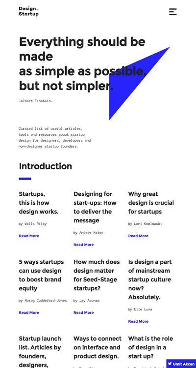 図4 スタートアップのためのデザインに関する情報ポータル