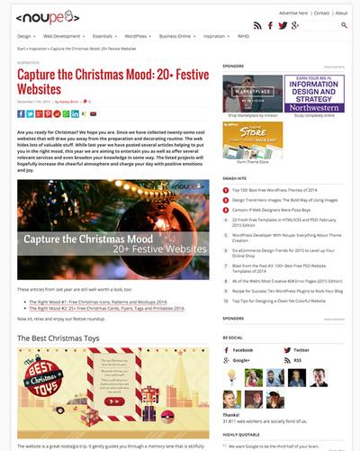 図6 クリスマス関連のWebサービスいろいろ