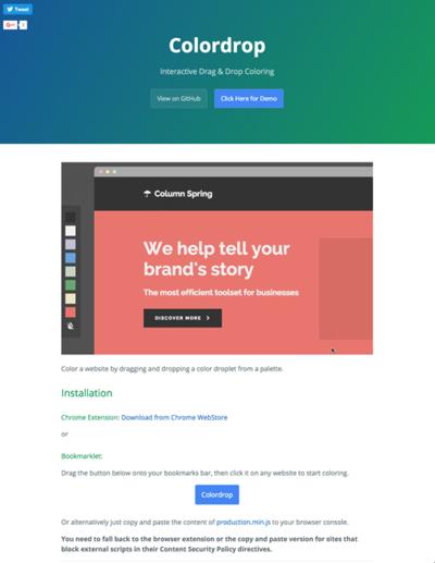 図6 Webページの背景色やテキスト色を変更してシミュレーションできるツール