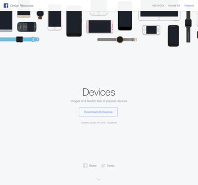 図5 Facebookが提供するモバイルデバイスの画像素材