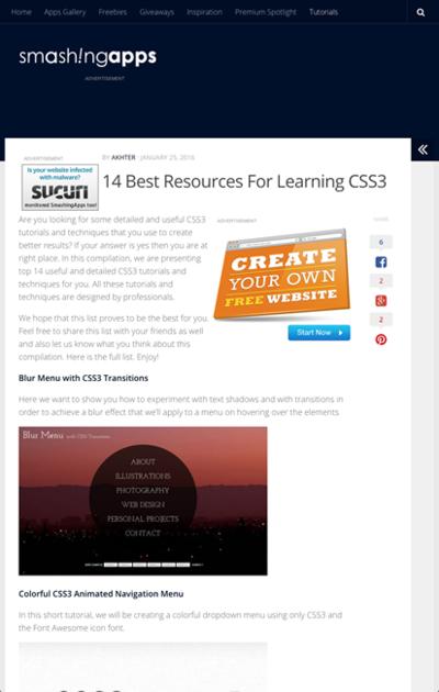 図5 CSS3のテクニックを学べる情報源へのリンク集