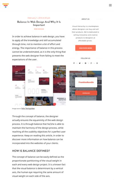 図1 Webデザインにおけるバランスについて