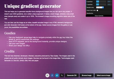 図6 グラデーションを使った背景画像を生成できるサービス
