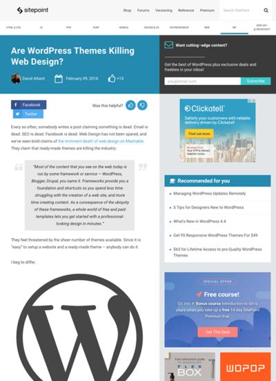 図3 WordPressのテーマがあればWeb制作者は不要なのか?