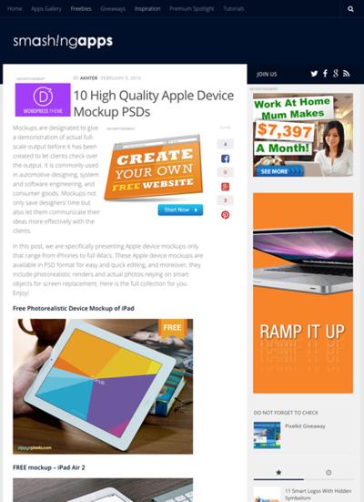 図5 Apple端末のモックアップのPSDファイルいろいろ
