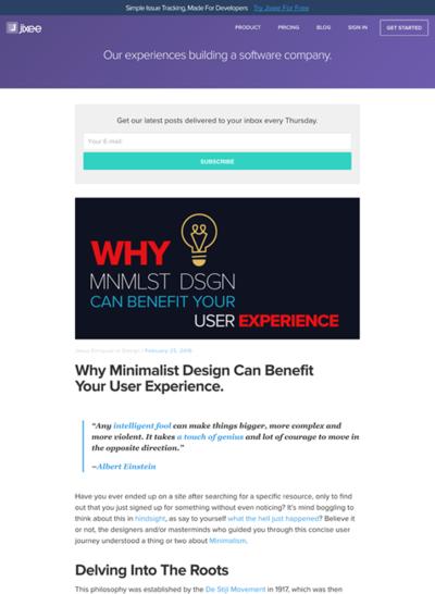 図4 ユーザーエクスペリエンスのためのミニマルデザイン