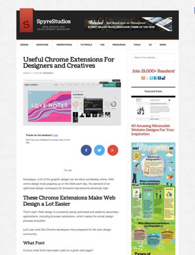 図3 Webデザインに役立つChrome拡張機能いろいろ