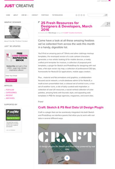 図4 Webデザインや開発に役立つ素材やフォント