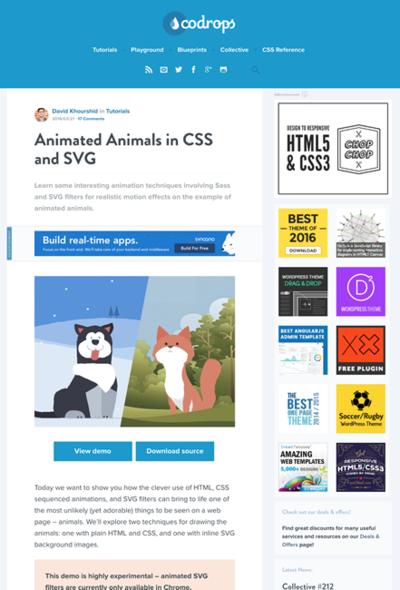 図5 CSSとSVGでアニメーションの作例