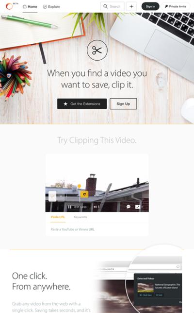 図6 YouTubeかVimeoの動画をトリミングして共有できるサービス