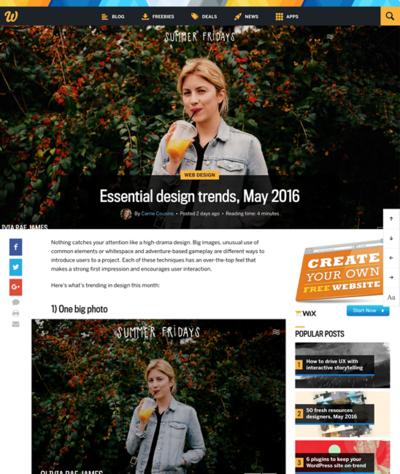 図2 Webデザインの最近のトレンド