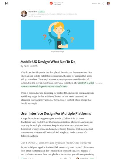 図2 モバイル向けUXデザインの「べからず集」