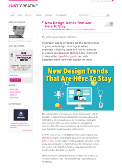 図3 定着したWebデザインのトレンド
