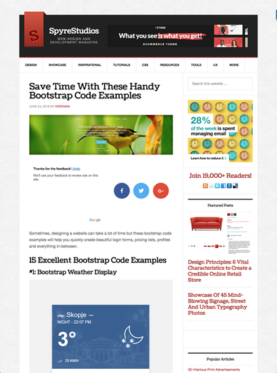 図5 Bootstrapをベースにしたコーディング例いろいろ