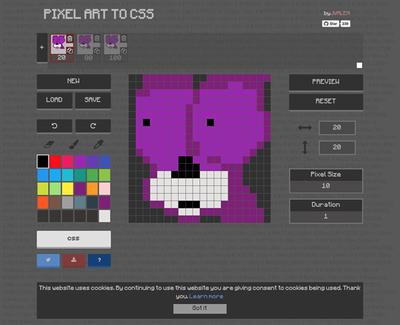 図6 アニメーションするドット絵を作れるサービス