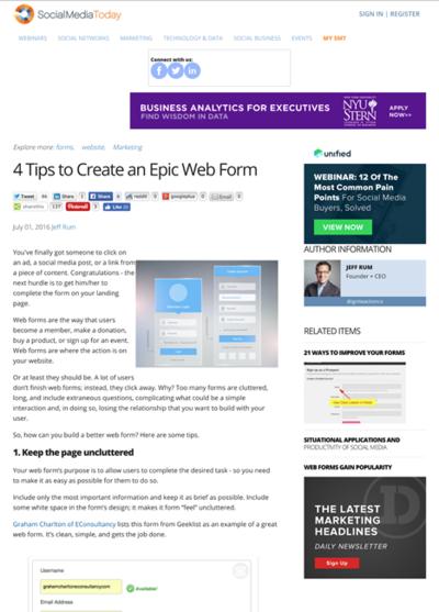 図3 良いWebフォームを作るためのヒント