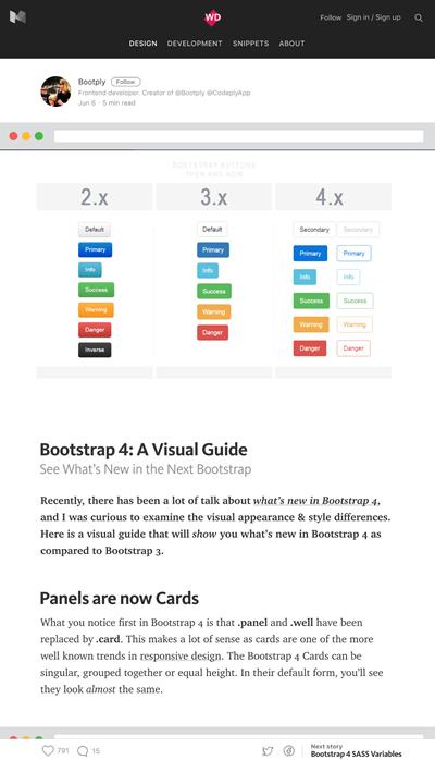 図3 Bootstrap 4の新しくなった点をビジュアルで紹介