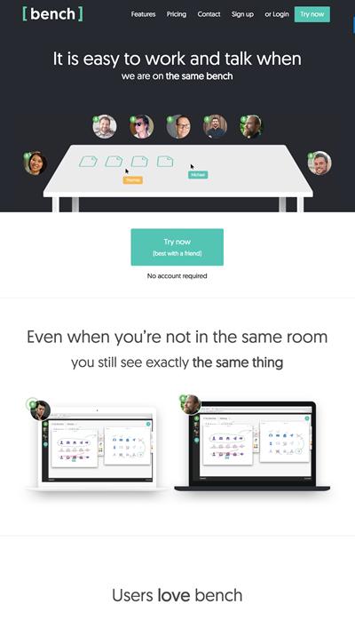 図6 複数人で同じ画像やテキストを編集しながら打合せができるサービス